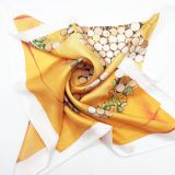 Different Size and High Quality Custom Digital Printed Thin Silk Scarf Malaysia