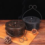 Home Creative Antique Mosquito Incense Burner With Lid Fireproof Incense Burner Portable