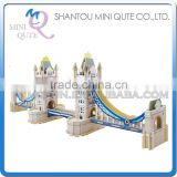 Mini Qute 3D Wooden Puzzle London Tower Bridge world architecture famous building Adult kids model educational toy gift NO.JZ801