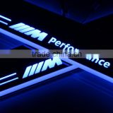 New products LED moving door scuff plate car door pedal sill flash logo light for E46 E63