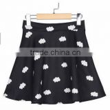 Young Girls Cloud Patterned Empire Waist Skirts A-Line Above Knee Ball Gown Skirts