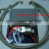 complete oil cooler kit with braid stainless steel oil lines                                                                         Quality Choice