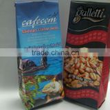 aluminum foil Lined center sealed side gusset ground coffee packing bag