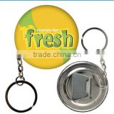 Bottle Opener Key Chain Button for factory direct suppliers
