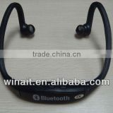 2013 cheap stereo bluetooth mobile headset built-in sport wireless mp3 player
