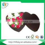 Fashion Upscale Black Paperboard Heart Shape Flower Gift Box