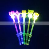 Flash cartoon animal toys with whistles, flashing plastic toys for decorations, promotion gift