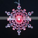 NEW Design CHRISTMAS TREES Decorative Clear Acrylic Snowflake With LED Light For Christmas Decoration                                                                         Quality Choice