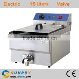 Table top french fryer machine for frying fries stainless steel 16l with deep fryer pan (SY-TF116V SUNRRY)
