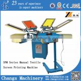 SPM 4/6/8 color 4/6/8 station manual ratory silk screen printing machine for sale/socks/gloves/T-shirt/swimming cap                                                                         Quality Choice
