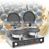 Double Plate Comercial Cone Waffle Maker /Cone Baker/ Snack Machine ZU-2                                                                         Quality Choice