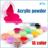 18 Colors Nail Art Powder Dust For UV GEL Acrylic Powder Decoration Tips