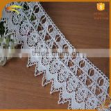 2016 New fashion factory wholesale white bulk decorative embroidered 100% cotton lace fabric for bed sheets MX073