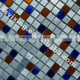 YX-MA06 colorful cheap metal mosaic, decorative wall tiles brushed aluminum mosaic tile 300*300 Foshan tile good mosaic tiles