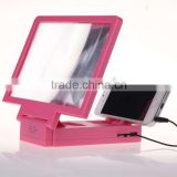 Foldable 3D Mobile Phone Enlarge Screen Magnifier with speaker,cellphone screen magnifier