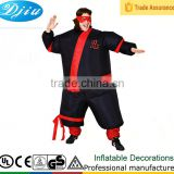 DJ-CO-166 black dress Ninja type cosplay inflatable Warrior costume party jumpsuit