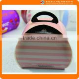 Pink stripes cake paper packaging box