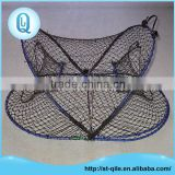 Professional fishing tool high strength pe net oval folding steel crab traps