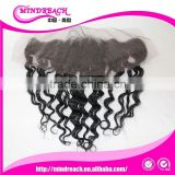 "MR hair,2015 new arrival size 13""*4"" 1# loose wave Brazilian human hair lace frontal piece"