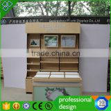Mdf Wooden Stand Display For Book Shops Stand Rack Exhibition Display Customized Wooden Steel Store Fixture