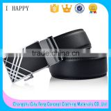 Simple Automatic Buckle Men's Official Black Ratchet Belt                                                                         Quality Choice