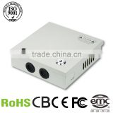 Hot sale!! CCTV power supply,12v 5a 60w power supply battery back up 12v 4channel power box system