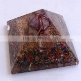 Mix Chakra Stone Orgone Pyramid With Amethyst Markaba | Orgonite-Orgone Energy Pyramid | Wholesale-manufacturer-supplier