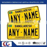 aluminium car number plate ,car name plate