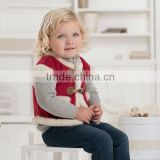 DB1289 dave bella 2014 autumn winter infant clothes toddlers waistcoats plaid baby vest for winter