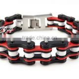 Fashionable Red&Black Bracelet Colorful Biker Bicycle Motorcycle Chain For Womens Bracelets & Bangles Fashion Bracelet Jewelry