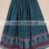 Crinkle skirts in cotton voile fabric / Ladies wear long panel skirts / Bagru printed indian dancing wear skirts