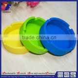Set of 6 Colors Eco-Friendly Colorful Silicone Rubber Heat Resistant Round Design Ashtray