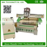 imported guide rail cnc machine HS-A1325 wooden door design cnc router machine with 3 heads