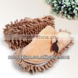 cute colorful bow chenille cleaning mop slippers 2014