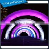 cheap rainbow used inflatable advertising finish line arch rental inflatable arch for sale