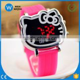 LED007/Silicone 12 Colors Candy Quartz Watch Bands Students Children Jelly Watches Jelly Design LED Digital Cute Cat Face