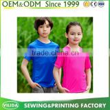 Wholesale Blank Polyester T Shirt Kids Good Quality With Custom Logo