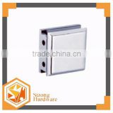 Square samll Glass partition brace 0 degree, glass to wall door hinge glass fitting 6-12mm shower door clamp