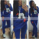 Ladies New Design Fashion Top Reactivate Sportswear Women High Quolity Wholesale Sweat Suits