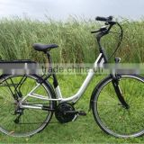 City style pedal assistant electric bicycles with bafang middle powered motor