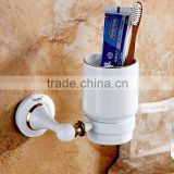 80358D new design hotel use single cup bathroom cup White Tumbler Holder toilet accessories