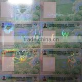 Anti fake transparent holograms overlay,films,foils to protect id cards