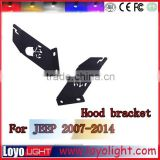 Jeep Hood Led Bracket for 20inch Single Row Led Light Bar ON Jeep Wrangler Accessories LED Hood Mount Kit