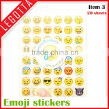 Wholesale creative decorative customized cute emoji keyboard sticker
