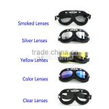 5 lens Black frame Flexible Adult Motorcycle Motocross Bike riding Cross Goggles helmet glasses