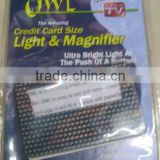 Credit Card Size Magnifier & Light