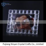OEM ODM transparent and brown crystal mini beautiful photo frame