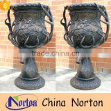 European garden style vintage bronze metal flower pot, balcony flower plant pot NTBF-FL135S