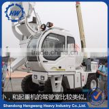 4cbm Full hydraulic 4wd self loading concrete mixer truck sale mobile concrete mixer truck