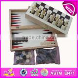 2015 wood backgammon set in box,MDF backgammon travel game for aduit,backgammon set with high quality WJ277091